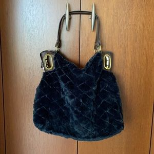 Big Buddha faux fur Handbag